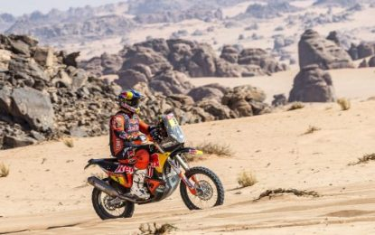 Dakar 2021: KTM's Toby Price overcomes tyre problem to keep pressure on 'bike leader