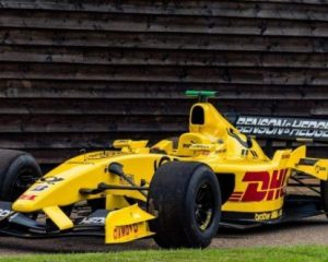 Follow in the footsteps of Grand Prix legends and drive a Jordan F1 race car
