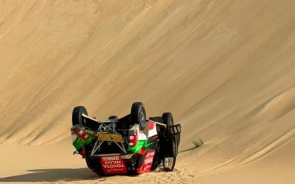 Pre-Baja favourite Yazeed Al-Rajhi crashes out of Sharqiyah International Baja Toyota as Seaidan wins