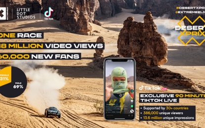 Extreme E's Desert X Prix content draws in 18.5 million TikTok views