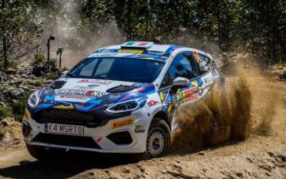 William Creighton (M-Sport Ford Fiesta Rally4) shows impressive Junior WRC pace in Portugal