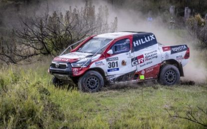 New Toyota Hilux Engine & Chassis Line Up for Pre-Dakar Marathon in South Africa