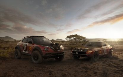 Nissan JUKE Rally Tribute Concept: Celebrating 50th anniversary of iconic 240Z's East African Rally victory