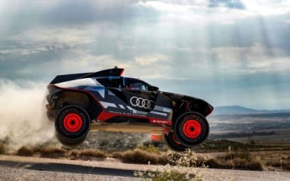 Dakar Rally Prototype Audi RS Q e-tron being put through its paces