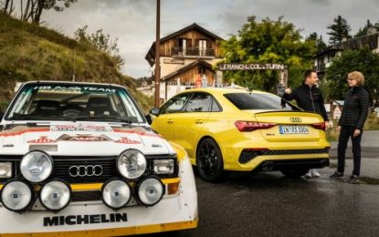 The legendary Audi quattro and the 5-cylinder engine