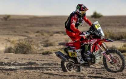 Monster Energy Honda Team podium lock-out in the first Rallye du Maroc stage