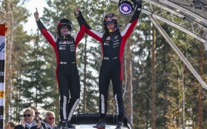 Flying Evans delivers another home win for the Toyota Yaris WRC – Breen third