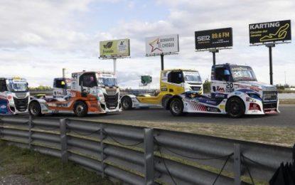 FIA ETRC Truck Racing Action From Jarama